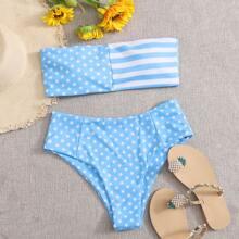 Star & Striped Bandeau Bikini Swimsuit