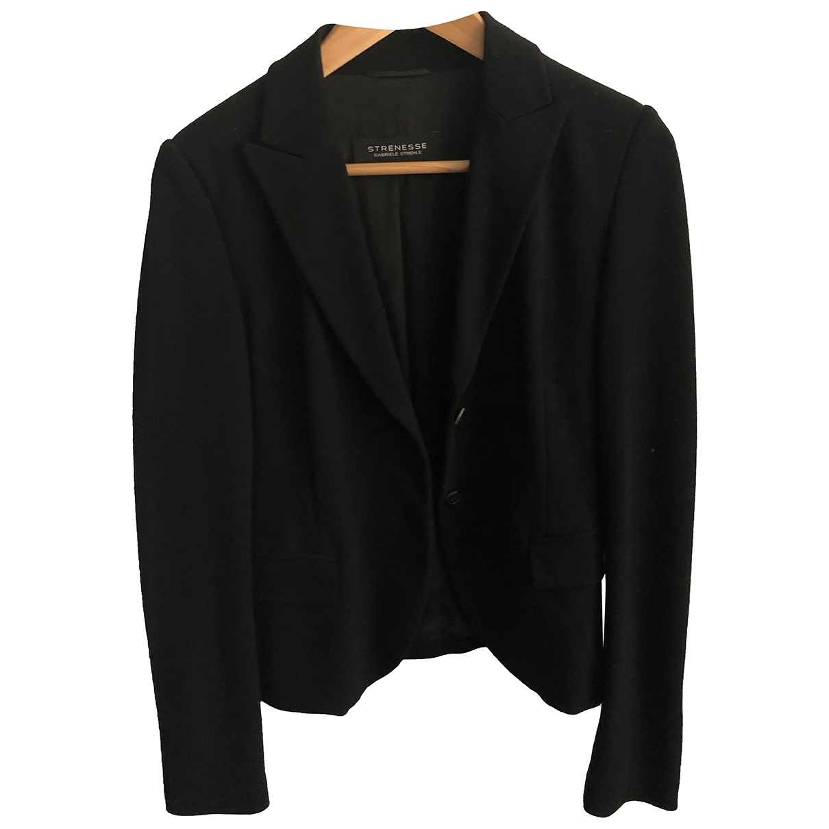 Strenesse \N Black Cotton jacket for Women 36 FR