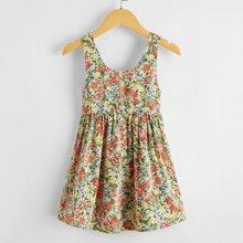Toddler Girls Floral Print Dress
