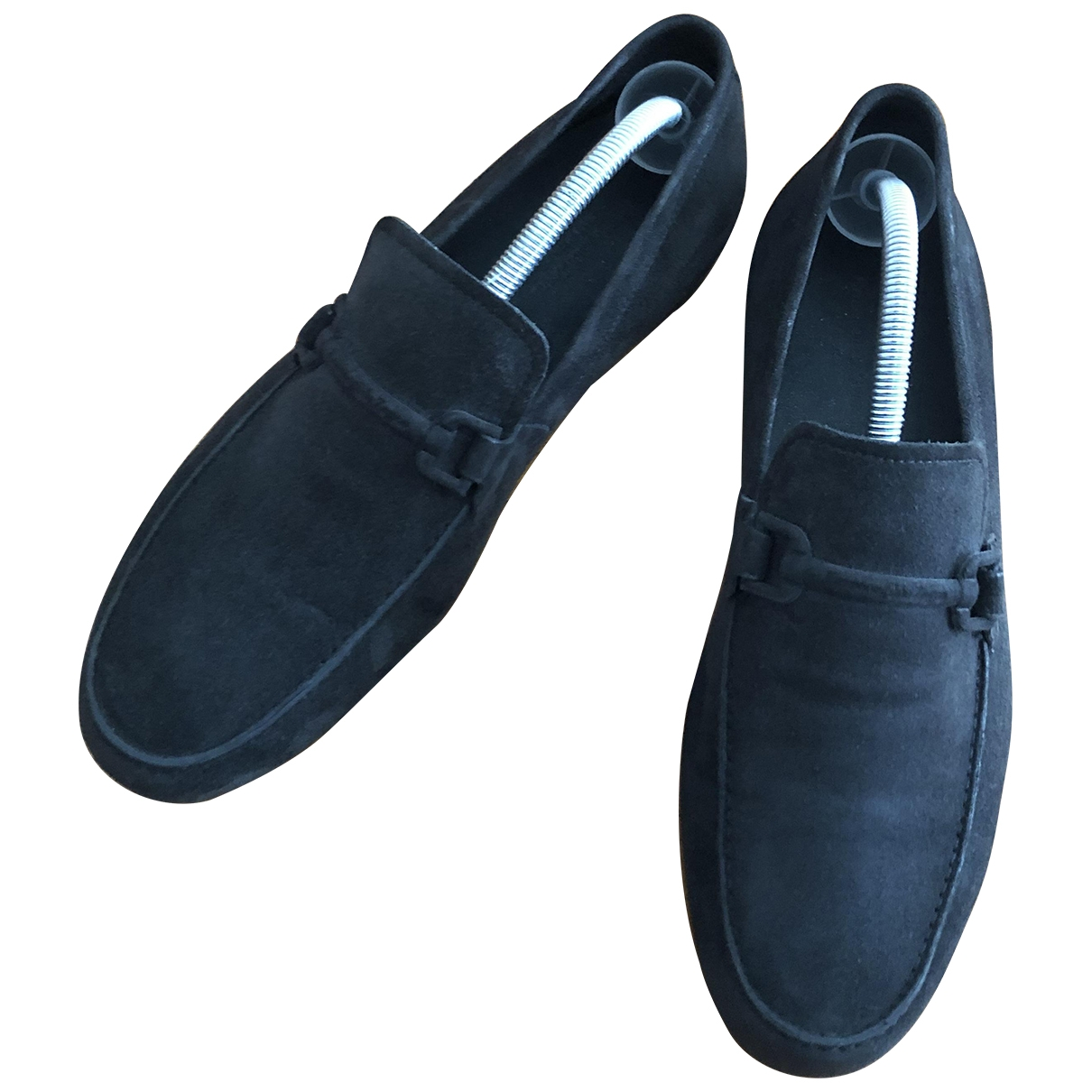 Ermenegildo Zegna \N Blue Suede Flats for Men 42 IT