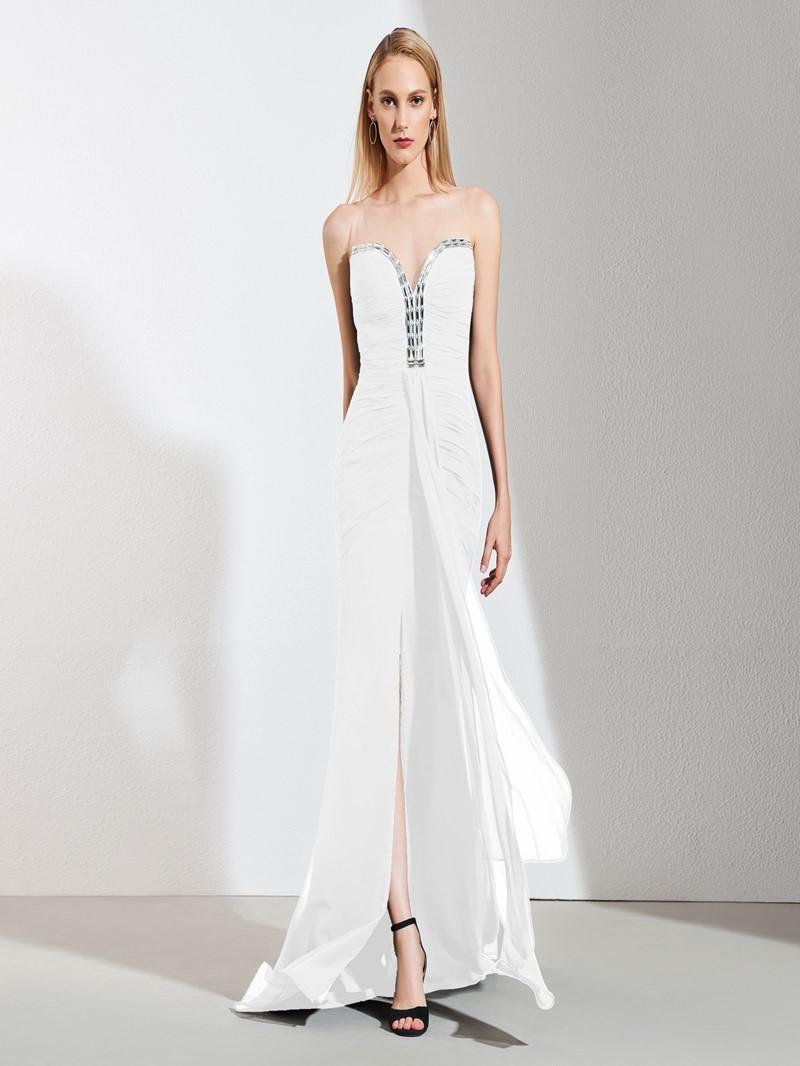 Ericdress Black Pleats Mermaid Prom Party Dress
