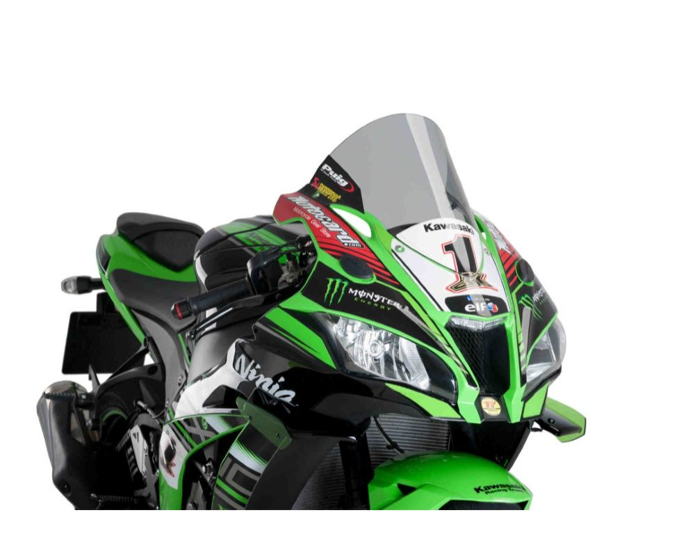 Puig 9849H R-Racer Windscreen - Light Smoke Kawasaki ZX-10R 2016