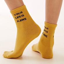 Socken mit Buchstaben Muster 1 Paar
