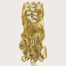 16pcs Clip Curly Hairpiece