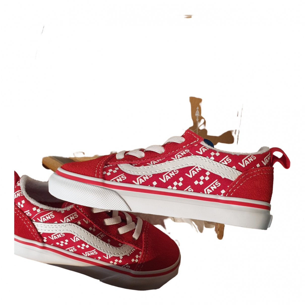 Vans \N Red Cloth Trainers for Kids 8 US