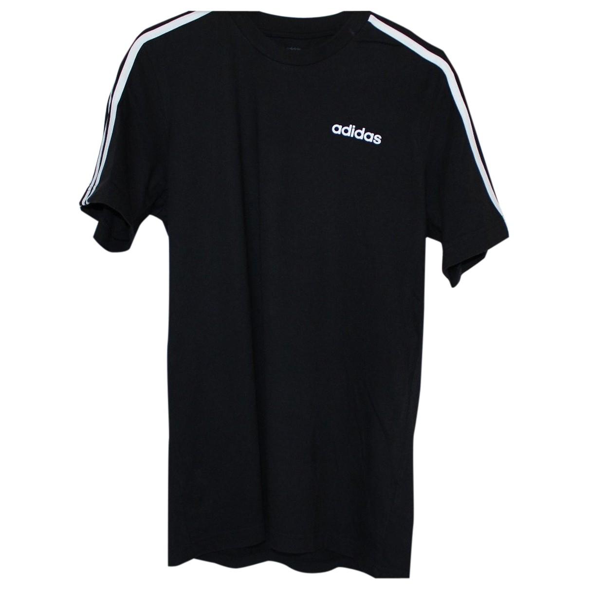 Adidas - Tee shirts   pour homme en coton - noir