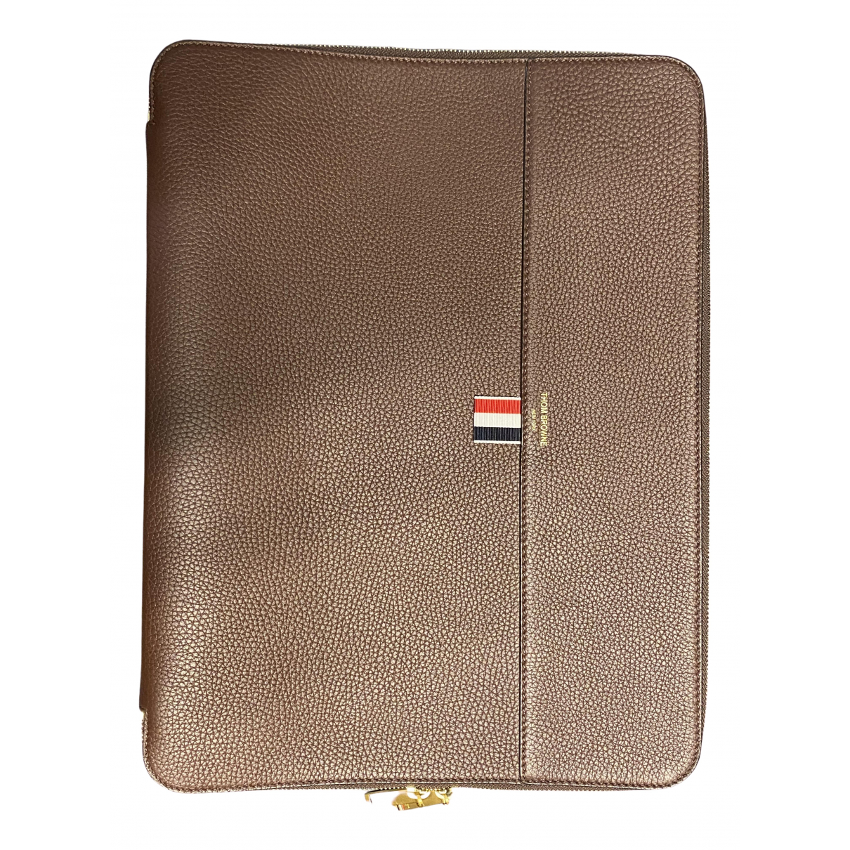 Thom Browne N Brown Leather Small bag, wallet & cases for Men N