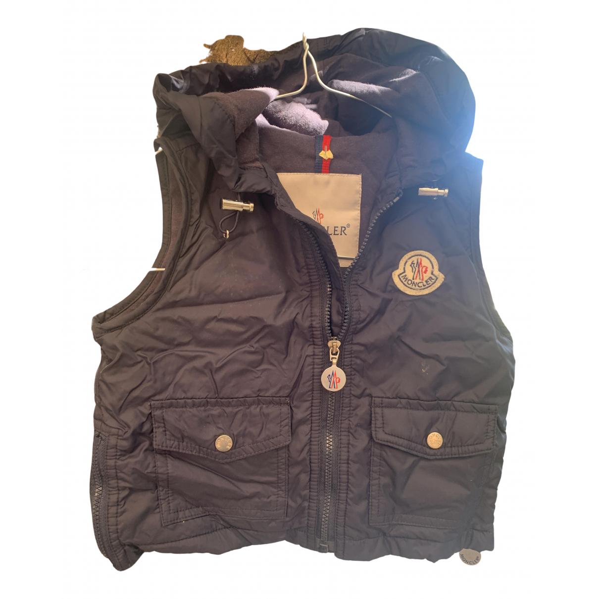 Moncler - Blousons.Manteaux Sleeveless pour enfant en coton - bleu