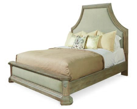 233127-2802 Arch Salvage - California King Bryce Upholstered Bed in Light