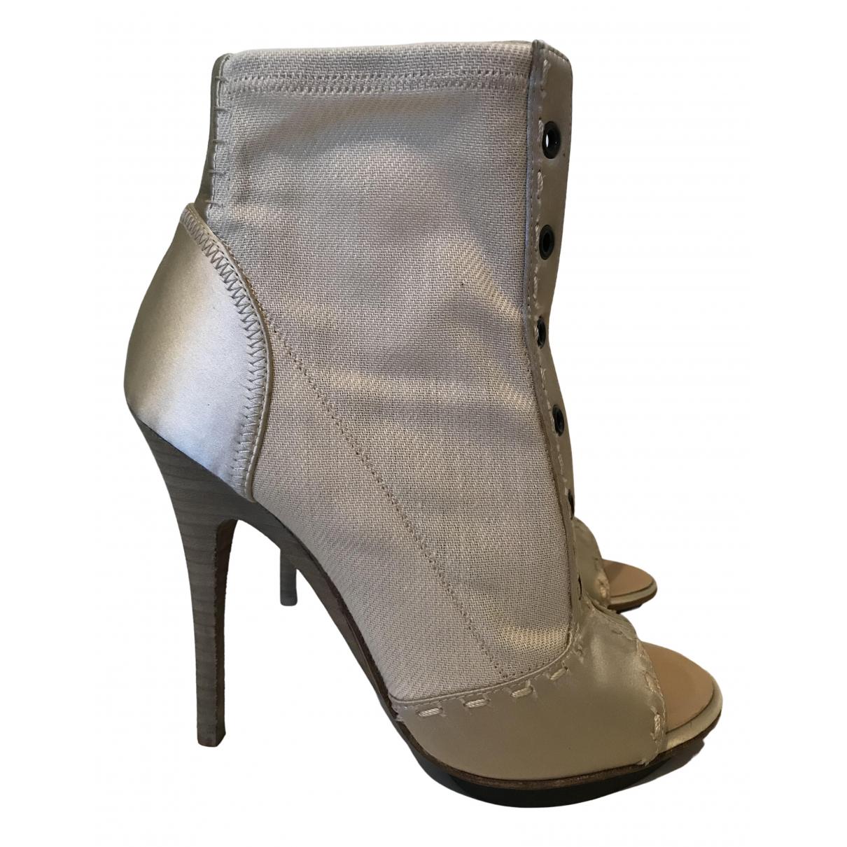 Giuseppe Zanotti - Boots   pour femme en toile - beige