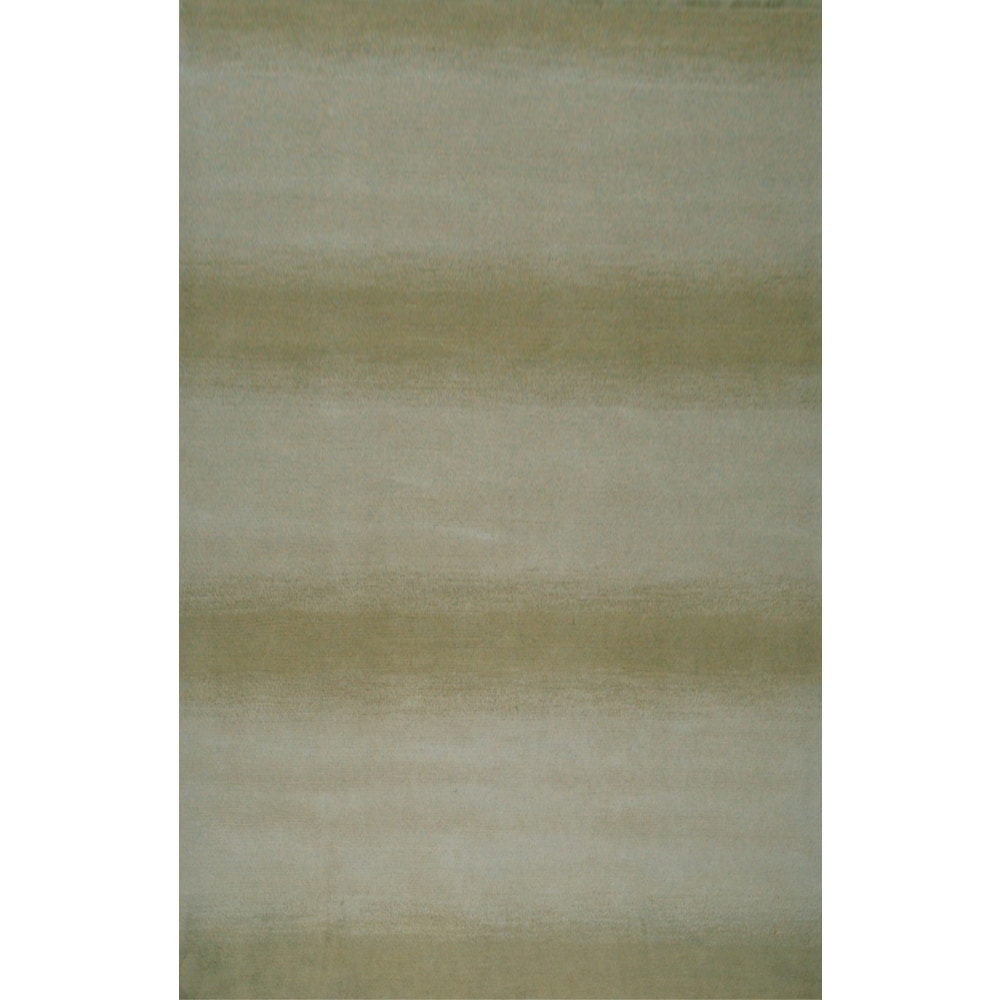 Hazel Hand-knotted Wool Area Rug by Greyson Living (Beige/Grey 5' x 8')