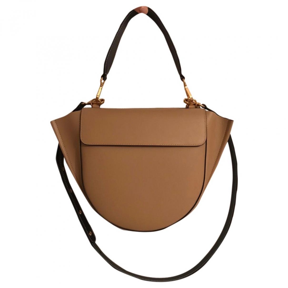 Wandler Hortensia Handtasche in  Beige Leder