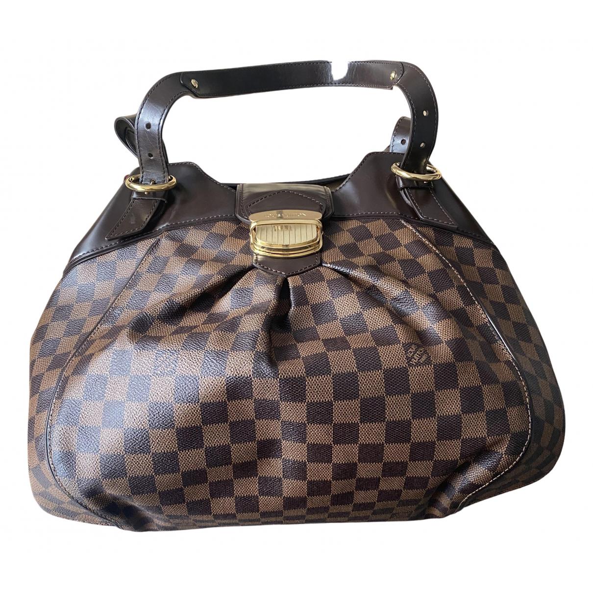 Louis Vuitton - Sac a main Sistina pour femme en toile - marron