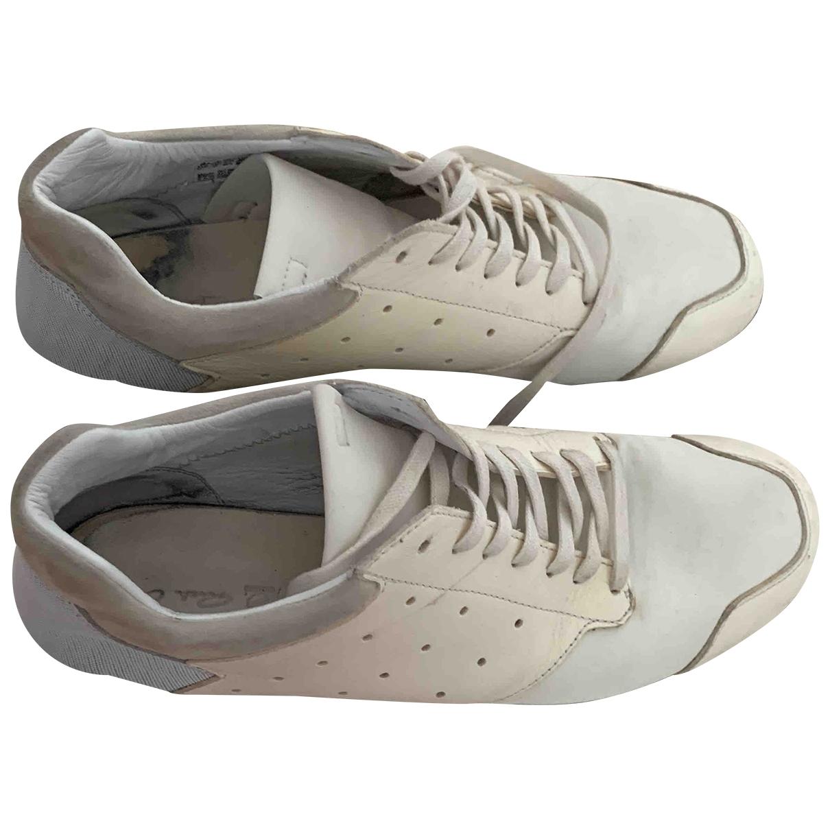 Rick Owens \N Sneakers in  Ecru Leder