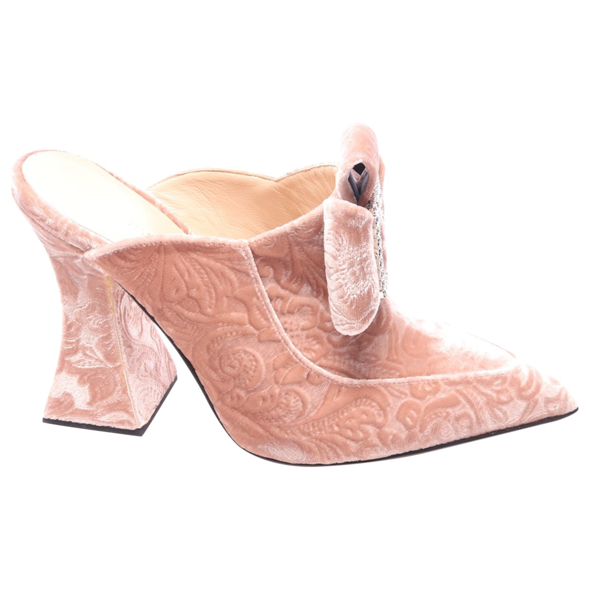Mary Katrantzou \N Beige Cloth Heels for Women 39.5 EU