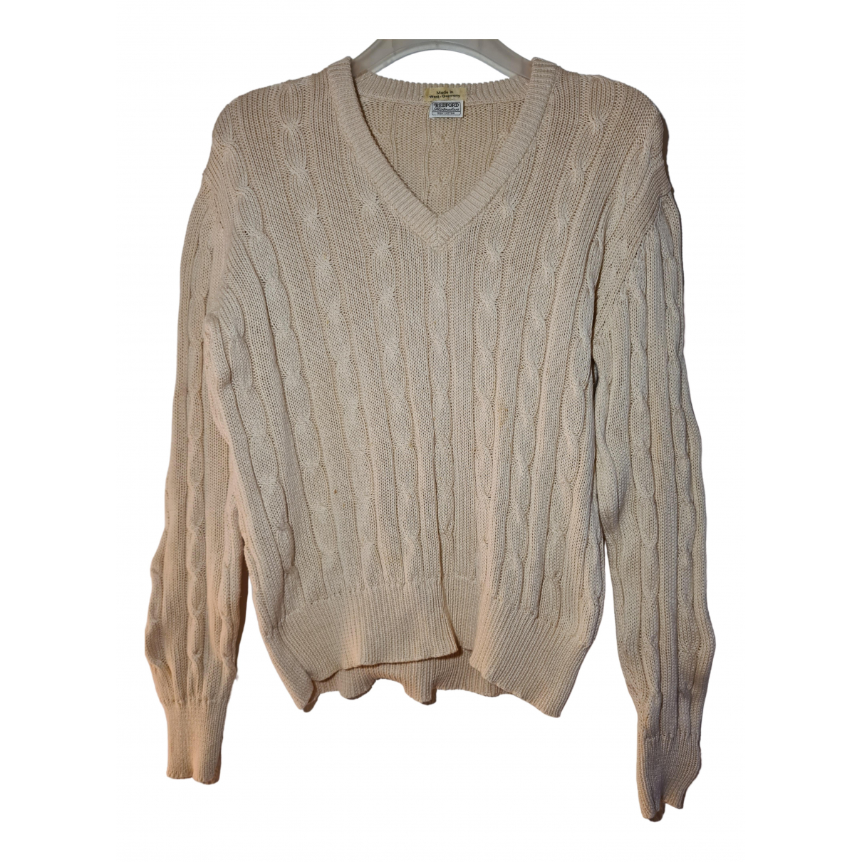 Non Signe / Unsigned \N Pullover in  Weiss Baumwolle