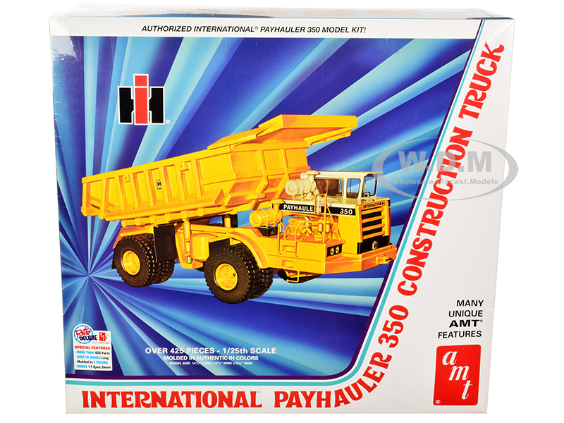 Skill 3 Model Kit International Payhauler 350 Construction Dump Truck 1/25 Scale Model by AMT