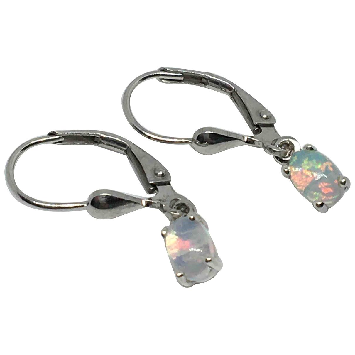 - Boucles doreilles Opale pour femme en vermeil - multicolore