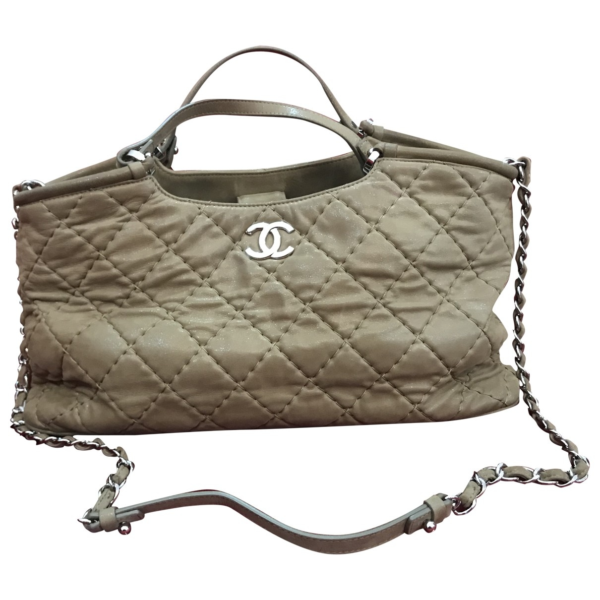 Chanel \N Beige Cloth handbag for Women \N