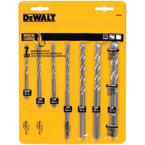 DeWalt 7 pc. Percussion Mason Drill Bit Set
