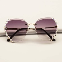 Sonnenbrille mit Strass