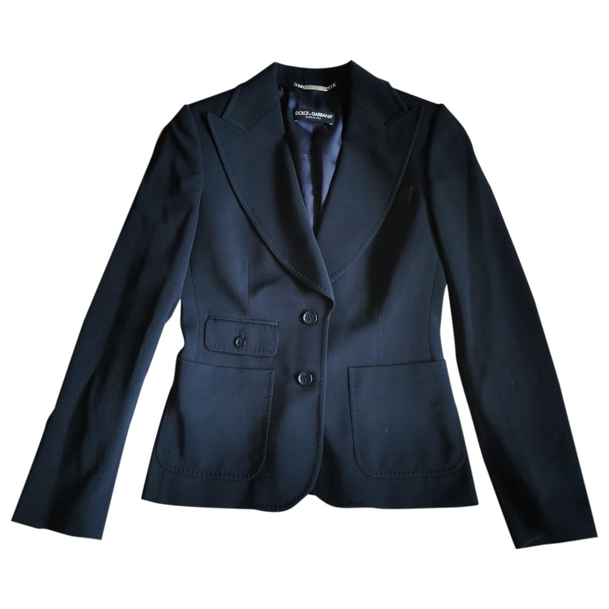 Dolce & Gabbana - Veste   pour femme en laine - bleu