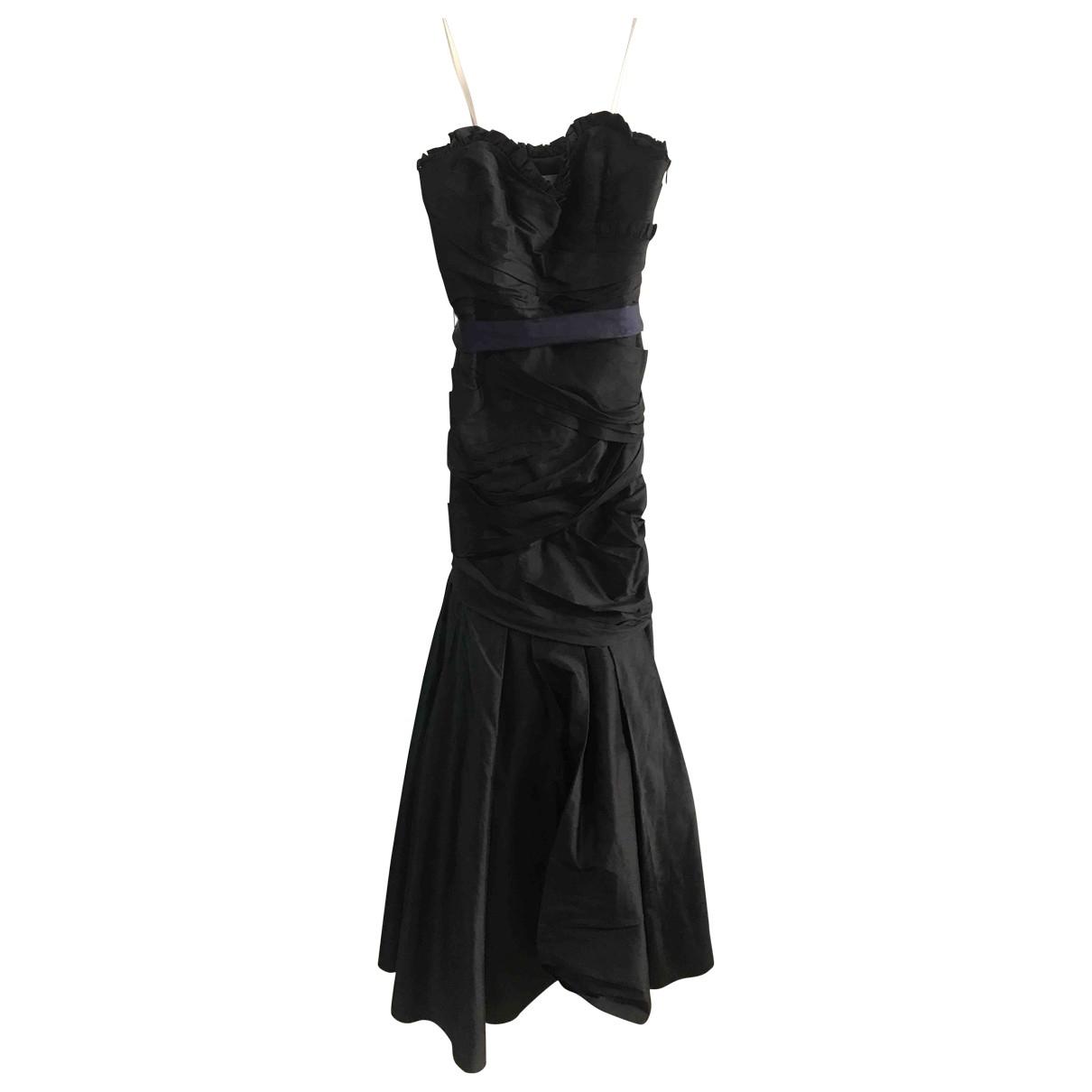 Vera Wang \N Kleid in  Schwarz Seide