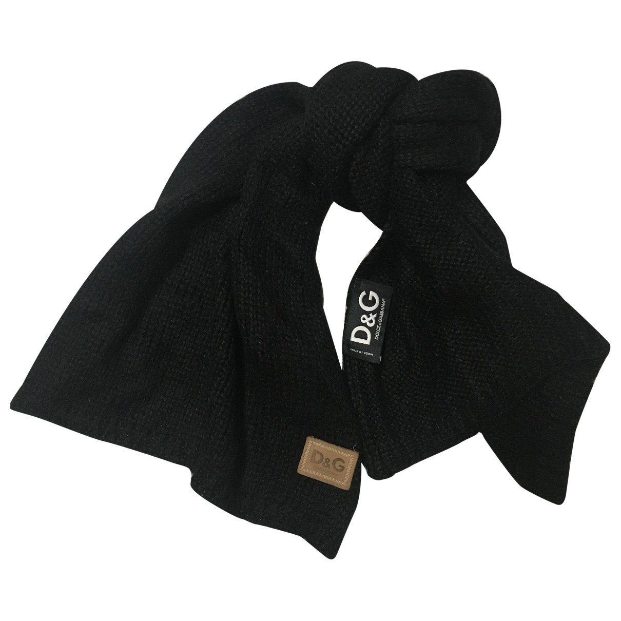 D&g \N Black Wool scarf & pocket squares for Men \N