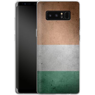 Samsung Galaxy Note 8 Silikon Handyhuelle - Rustic Irish Flag von caseable Designs