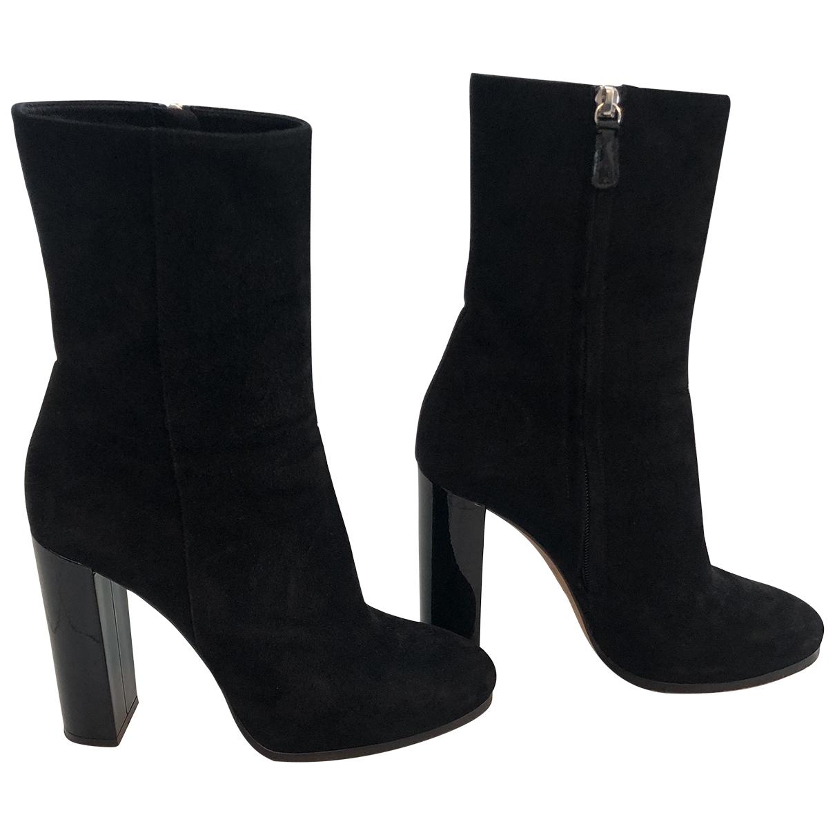 Dsquared2 - Boots   pour femme en suede - noir