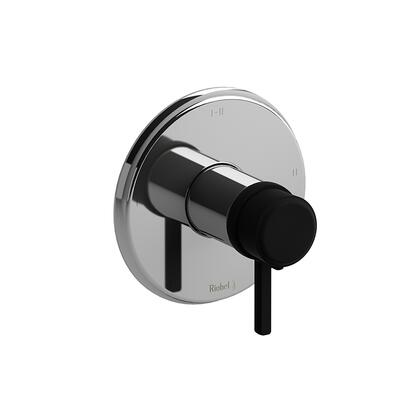 Momenti TMMRD23LCBK 2-Way Thermostatic/Pressure Balance Coaxial Valve Trim with Lever Handles  in