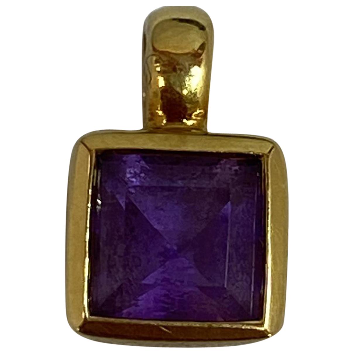 - Pendentif Amethyste pour femme en or jaune