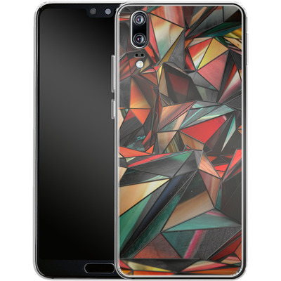 Huawei P20 Silikon Handyhuelle - Dirty Triangles von Danny Ivan