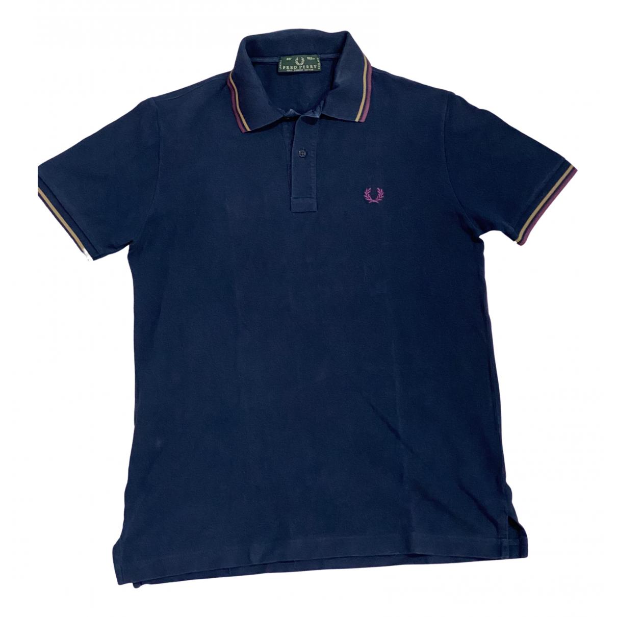 Fred Perry - Tee shirts   pour homme en coton - bleu