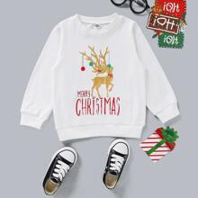 Toddler Boys Christmas Print Sweatshirt