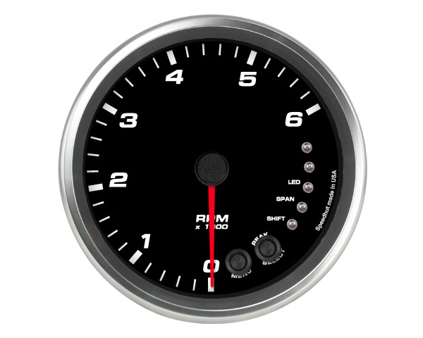 SpeedHut GR4.5-TACH-08SL-PM Tachometer Gauge 6K RPM Shift-light Pedestal Mount withaux Shift-light