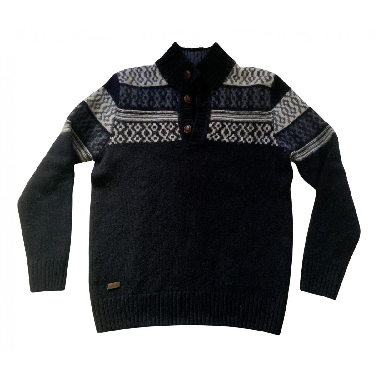 Lacoste - Pulls.Gilets.Sweats   pour homme en laine - bleu