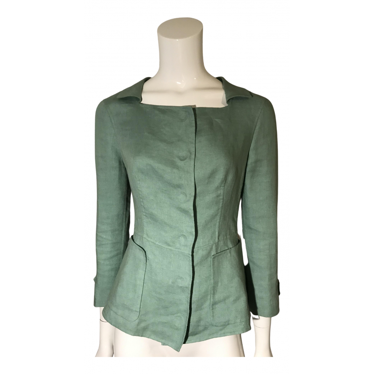 Burberry - Veste   pour femme en coton - turquoise
