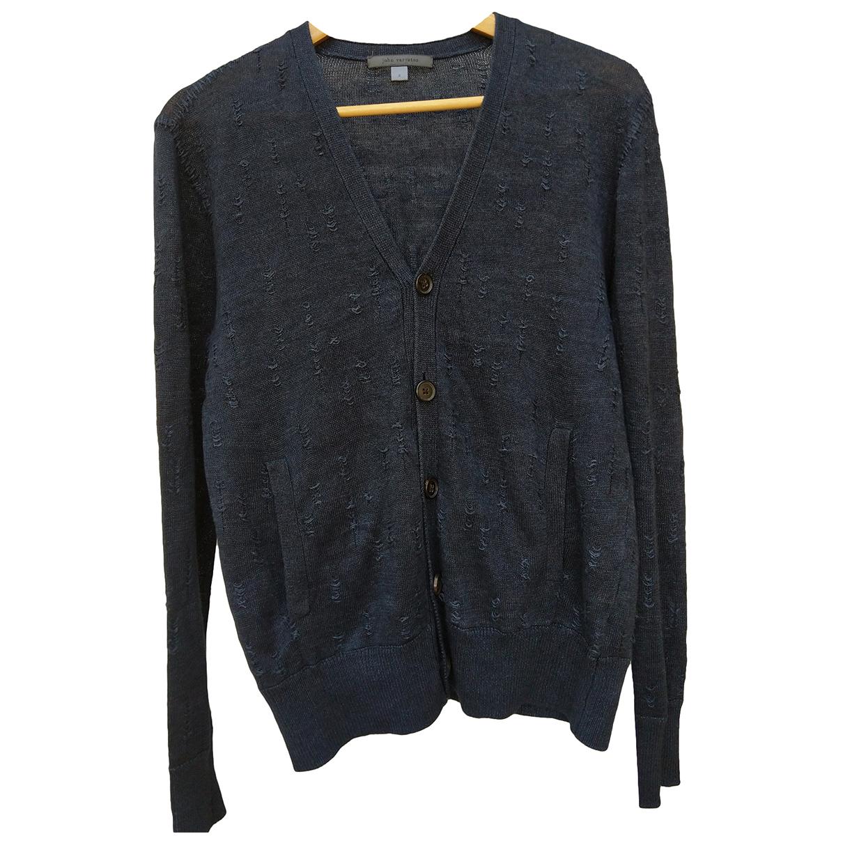 John Varvatos \N Pullover.Westen.Sweatshirts  in  Blau Leinen