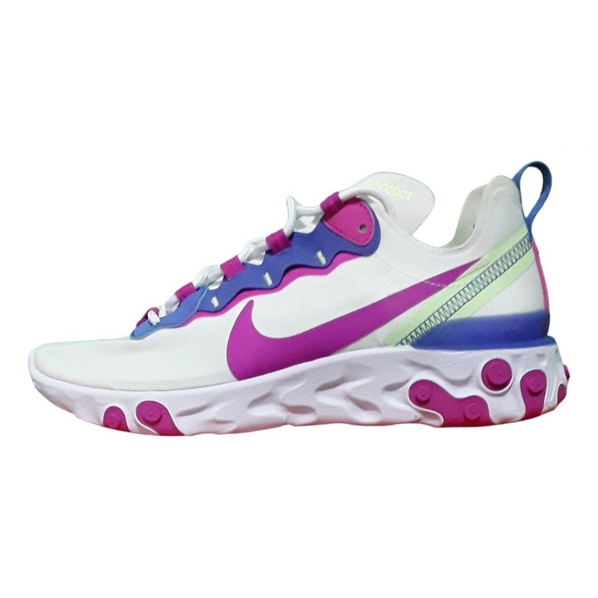 Nike - Baskets React element 55 pour femme en toile - blanc