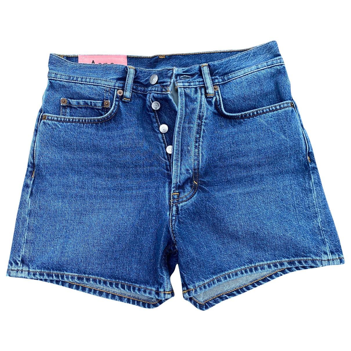 Acne Studios \N Shorts in  Blau Denim - Jeans