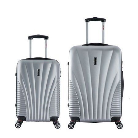 InUSA Chicago Lightweight Hardside Spinner 2-pc. Luggage Set, One Size , Silver
