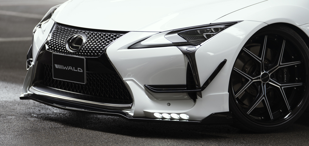 Wald USA LC500.FL.17 Sports Line Front Spoiler w/ LED Day Running Lights Lexus LC500 16-18