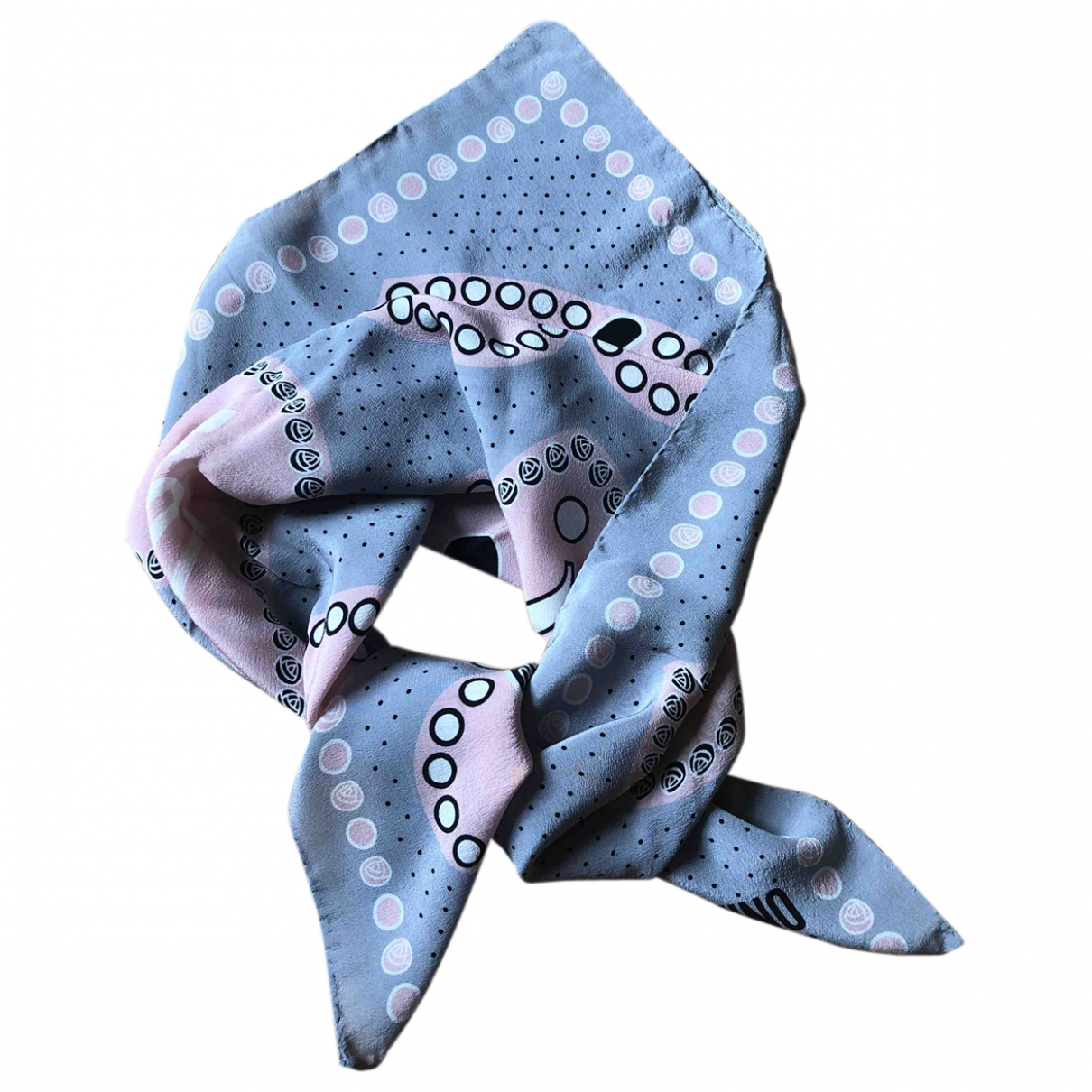 Moschino Cheap And Chic - Foulard   pour femme en soie - gris