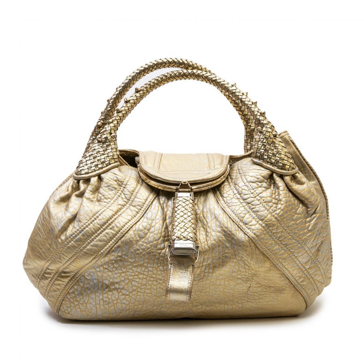Fendi Spy Gold Leather handbag for Women \N