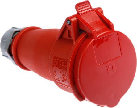 MENNEKES , AM-TOP IP44 Red Cable Mount 5P Industrial Power Socket, Rated At 16.0A, 400 V