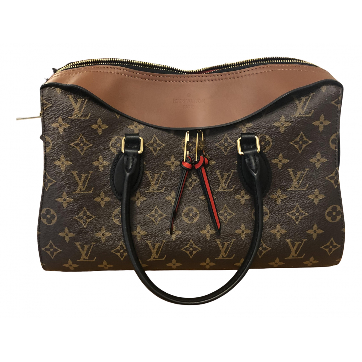 Louis Vuitton Tuileries Handtasche in  Braun Leinen