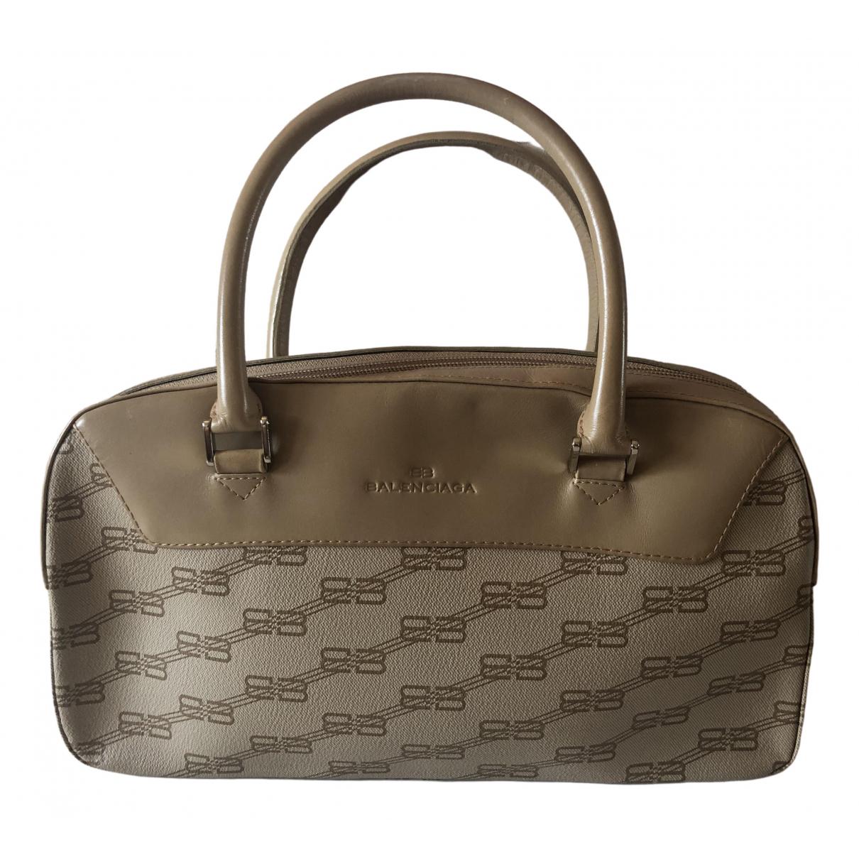 Balenciaga \N Handtasche in  Beige Leinen