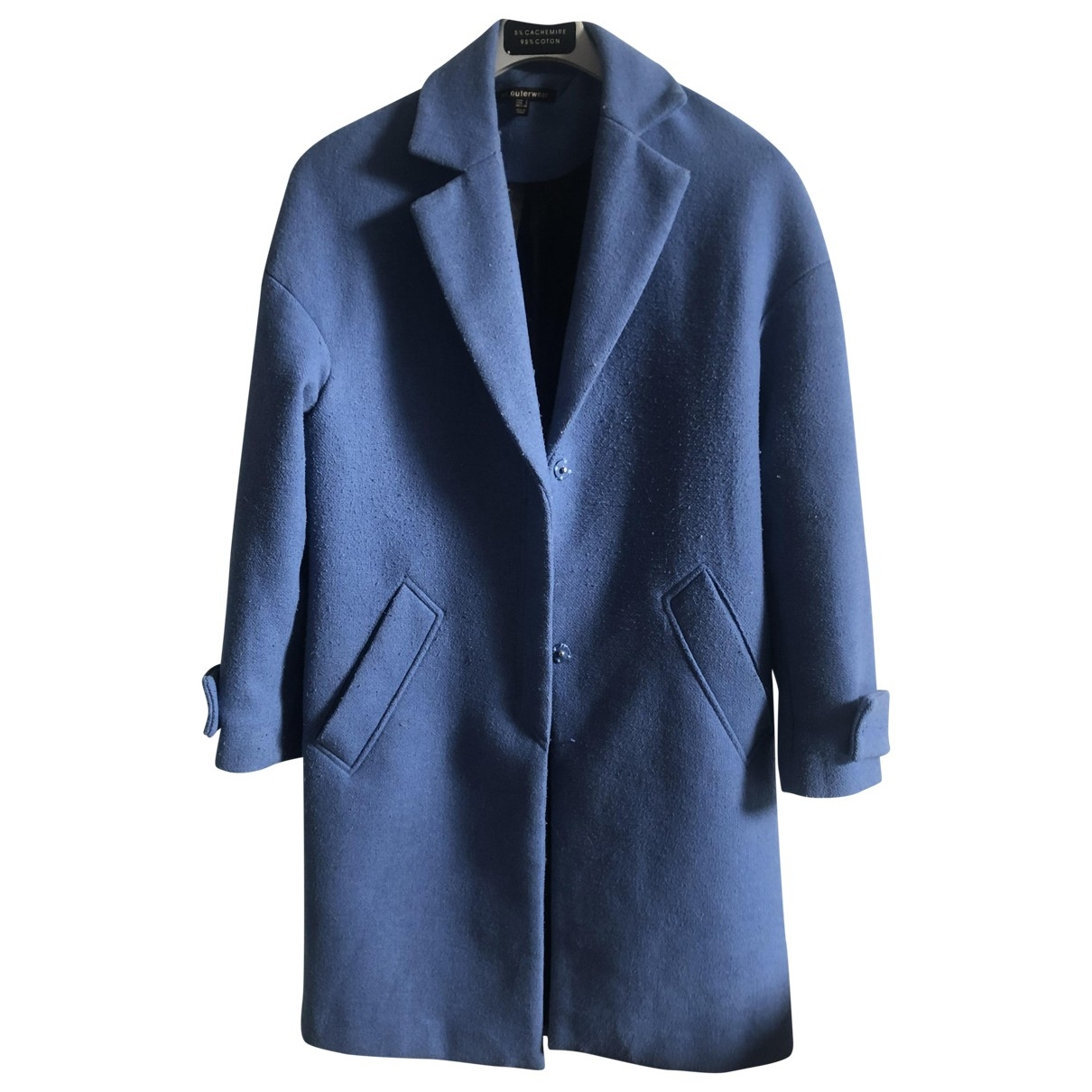 Zara \N Blue Cotton coat for Women 38 FR