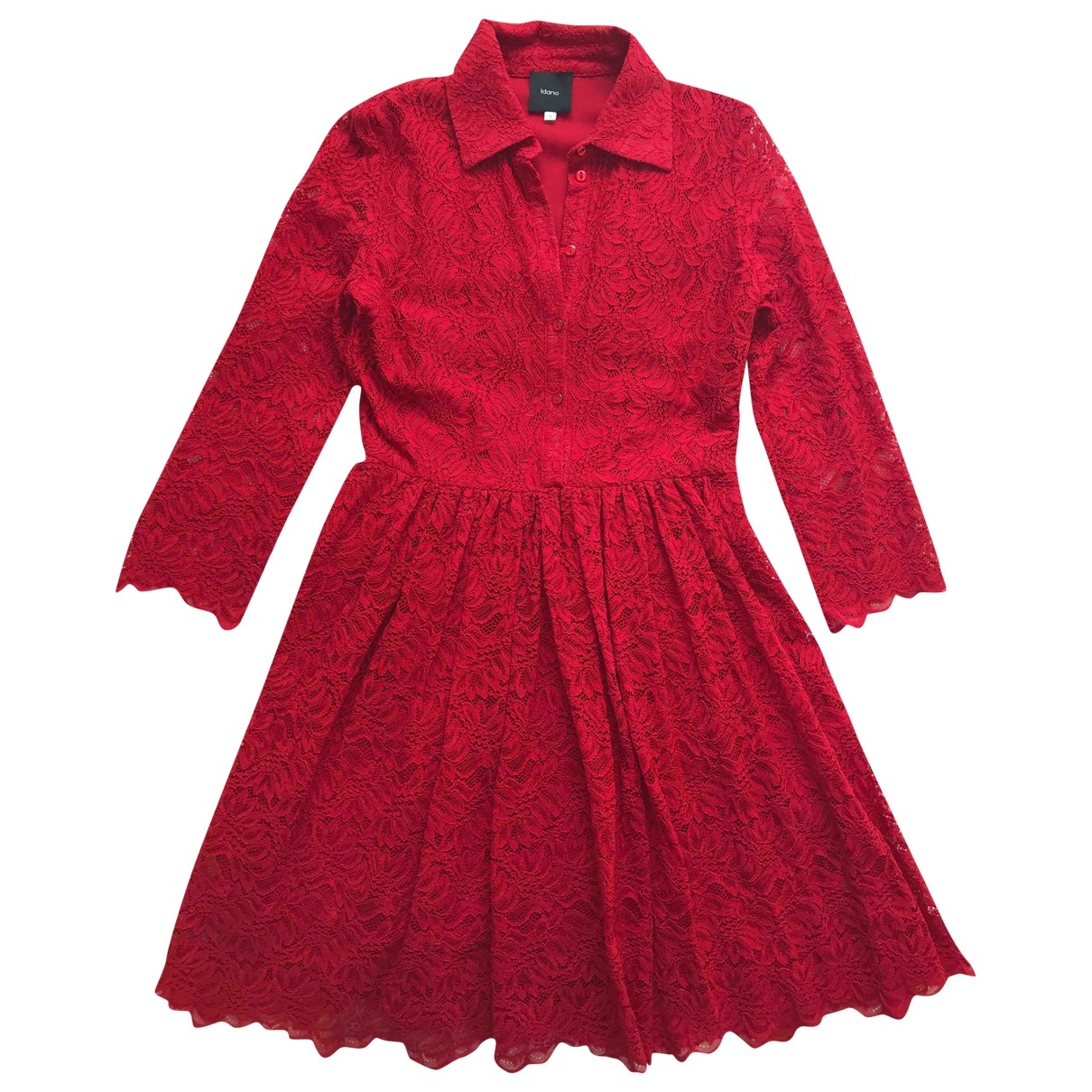Non Signe / Unsigned \N Kleid in  Rot Baumwolle